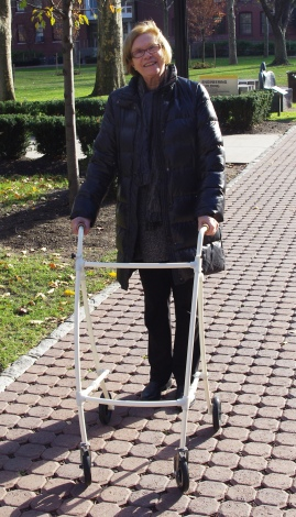 The walker in use!