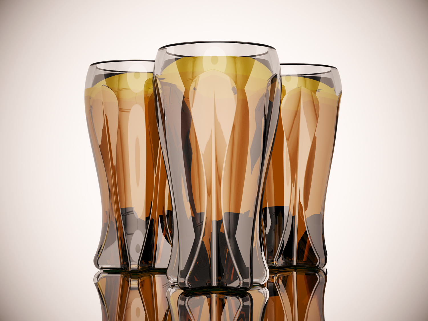 gianni renda's beer glass drinking for the no longer young  abler -  tall ambercolored double wall beer glasses with a vertical star